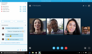 Skype for Business Video Conference Call and Live Chat